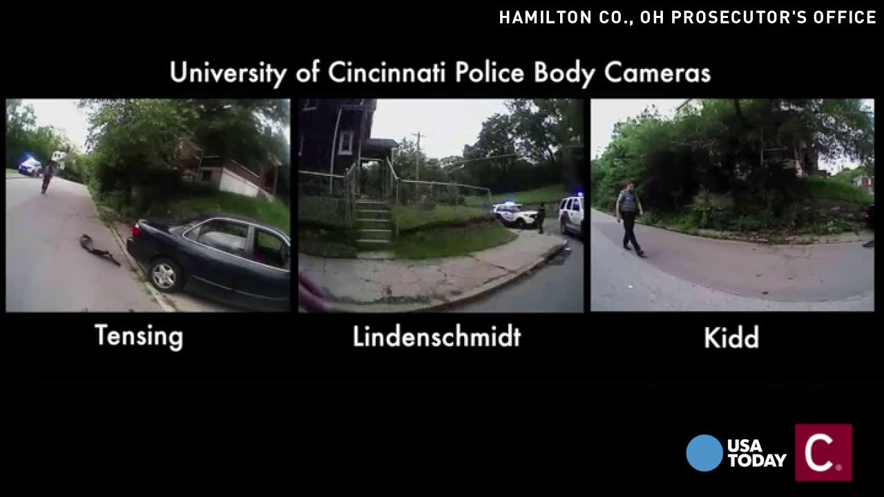 Video shows 3 bodycam views of Samuel DuBose shooting