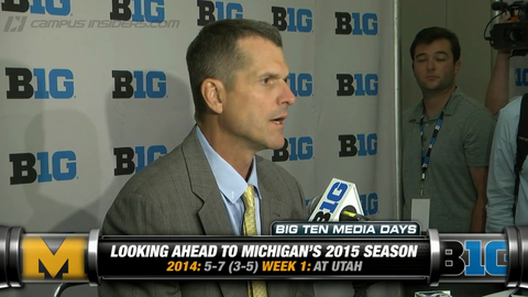 Michigan's Jim Harbaugh On Quarterback Battle