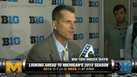 Michigan's Jim Harbaugh On 2015 Season