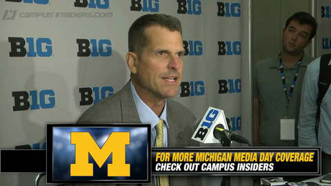 Michigan's Jim Harbaugh On The Birth Of 2015 Season