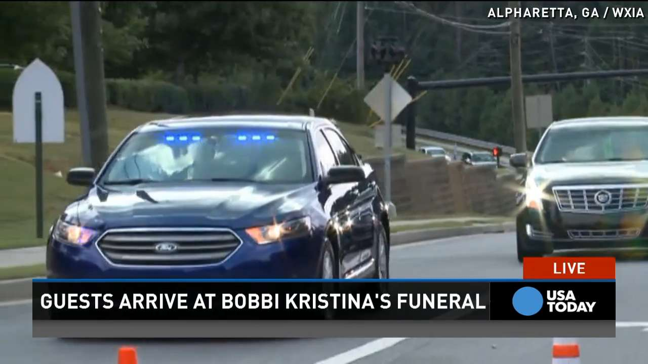 Heavy police presence at Bobbi Kristina Brown's funeral