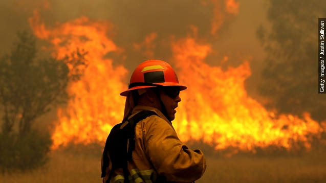 8,000 firefighters trying to control California flames
