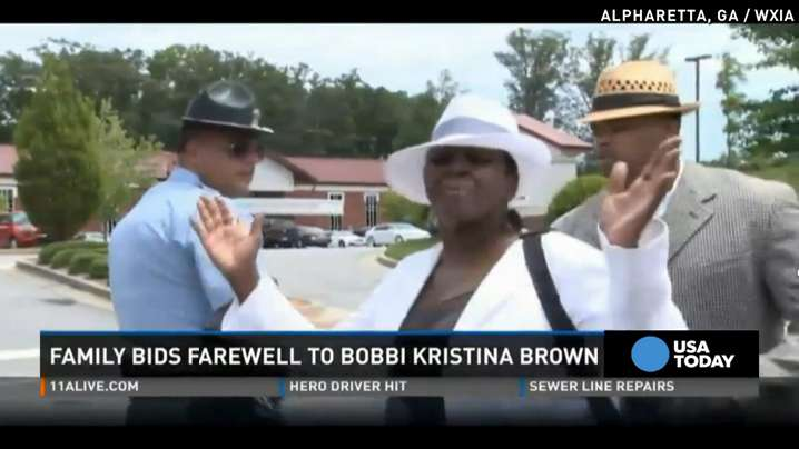 Bobbi Kristina Brown's aunt storms out of funeral
