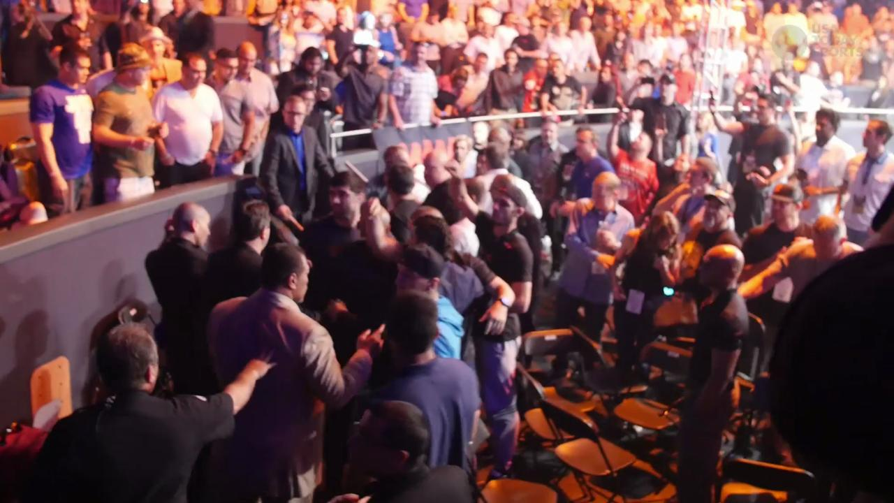 WSOF 22 stands erupt as current and former ufc fighters fight in the seats