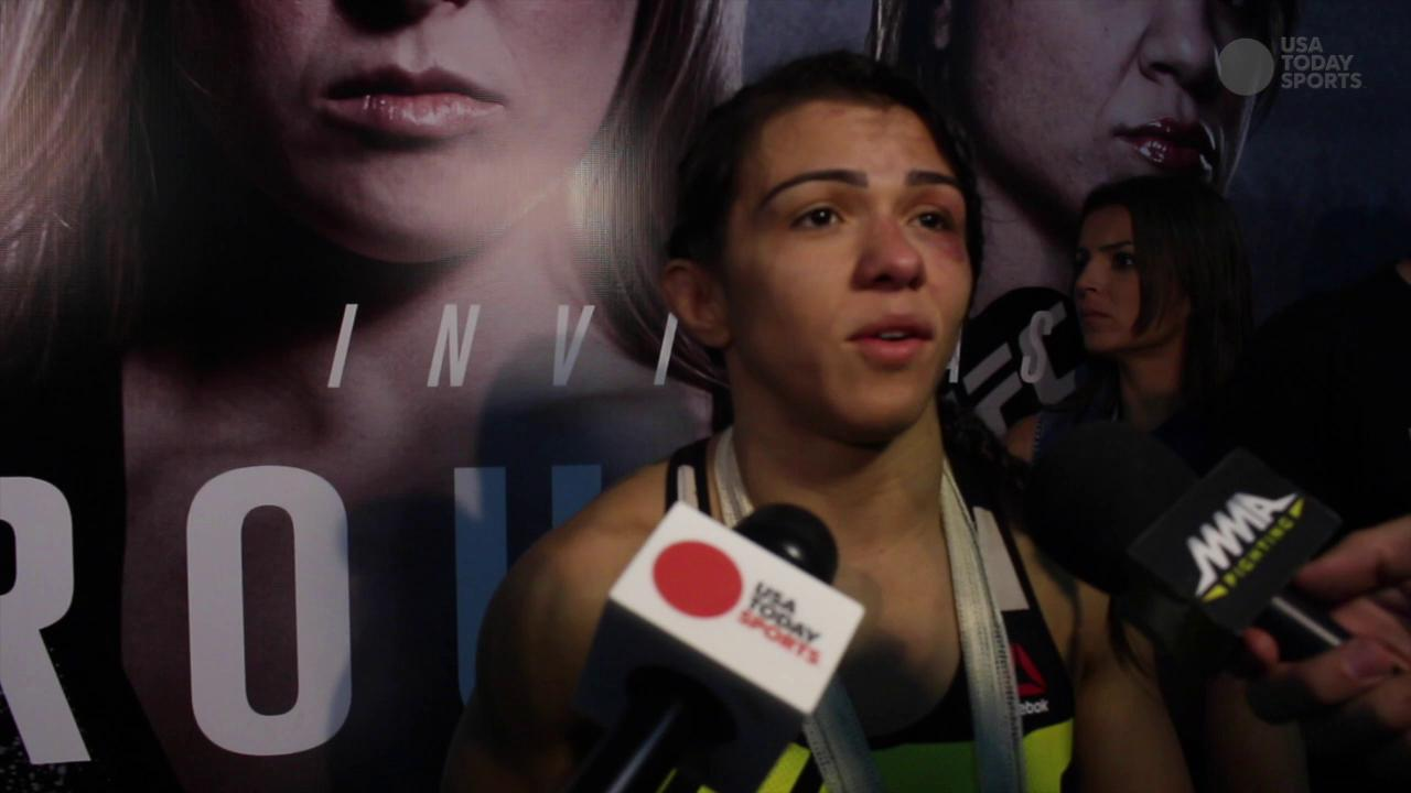 Claudia Gadleha ready to rematch Joanna Jedrzejczyk after UFC 190 win