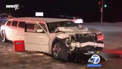 11 injured in limo crash on California freeway