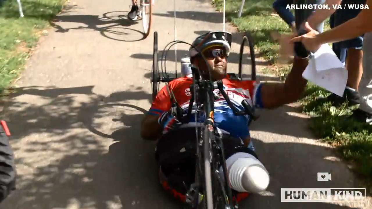 Wounded marine defies odds on cross-country bike trip