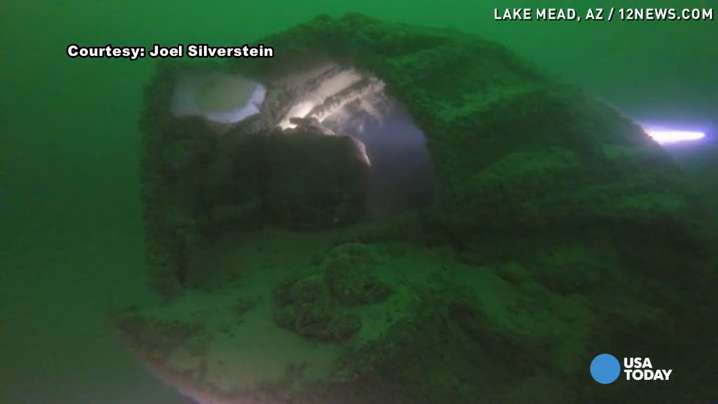 Drought unveils WW2 plane in Lake Mead