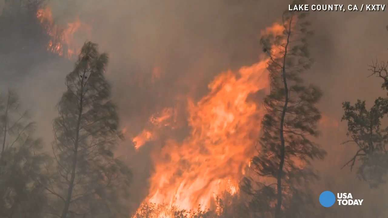 California wildfires spreading in record speed