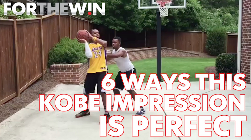 Kobe Bryant impersonator gets Kobe right in 6 perfect ways