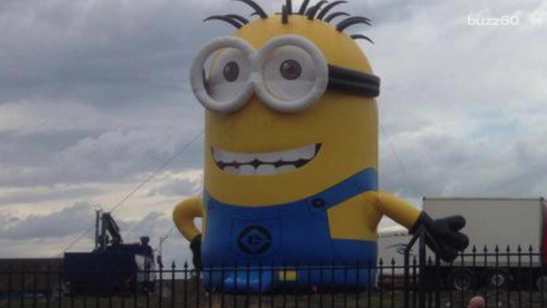 Giant inflatable 'Minion' wreaks havoc in Dublin