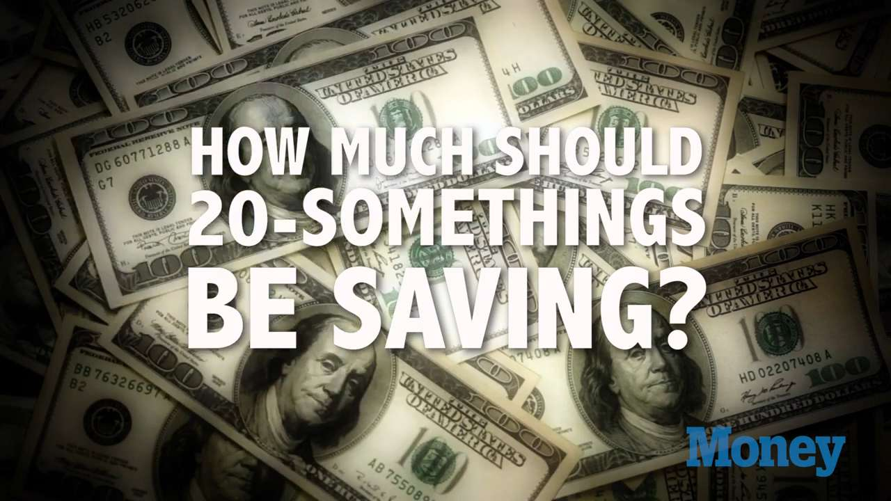 How much should 20-somethings be saving?