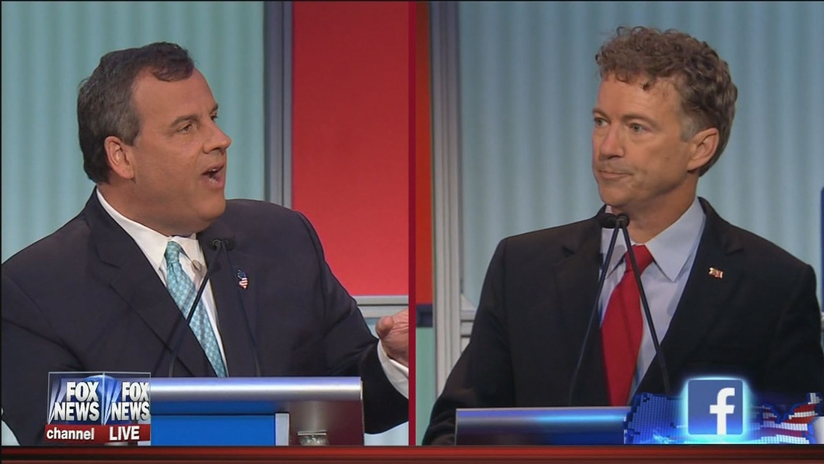 Christie and Paul clash over NSA and phone records