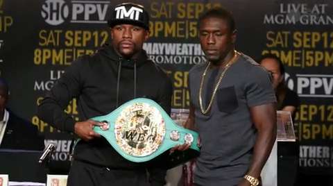 Mayweather announces his next — and last — fight against Andre Berto on Sept. 12th at the MGM Grand in Las Vegas.