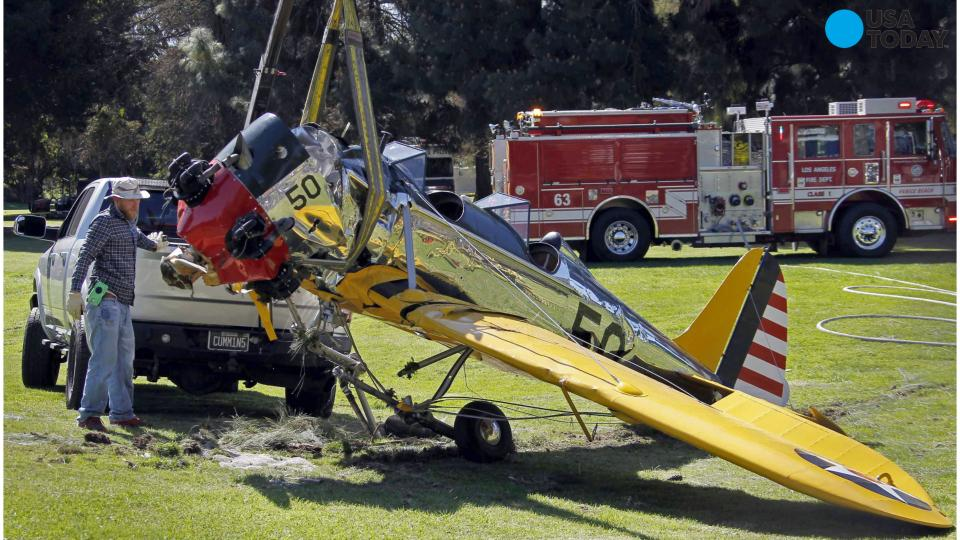 The National Transportation Safety Board has released the cause of a plane crash that left Harrison Ford severely injured. Ford was piloting a vintage airplane when it crashed near Santa Monica, California in March.
