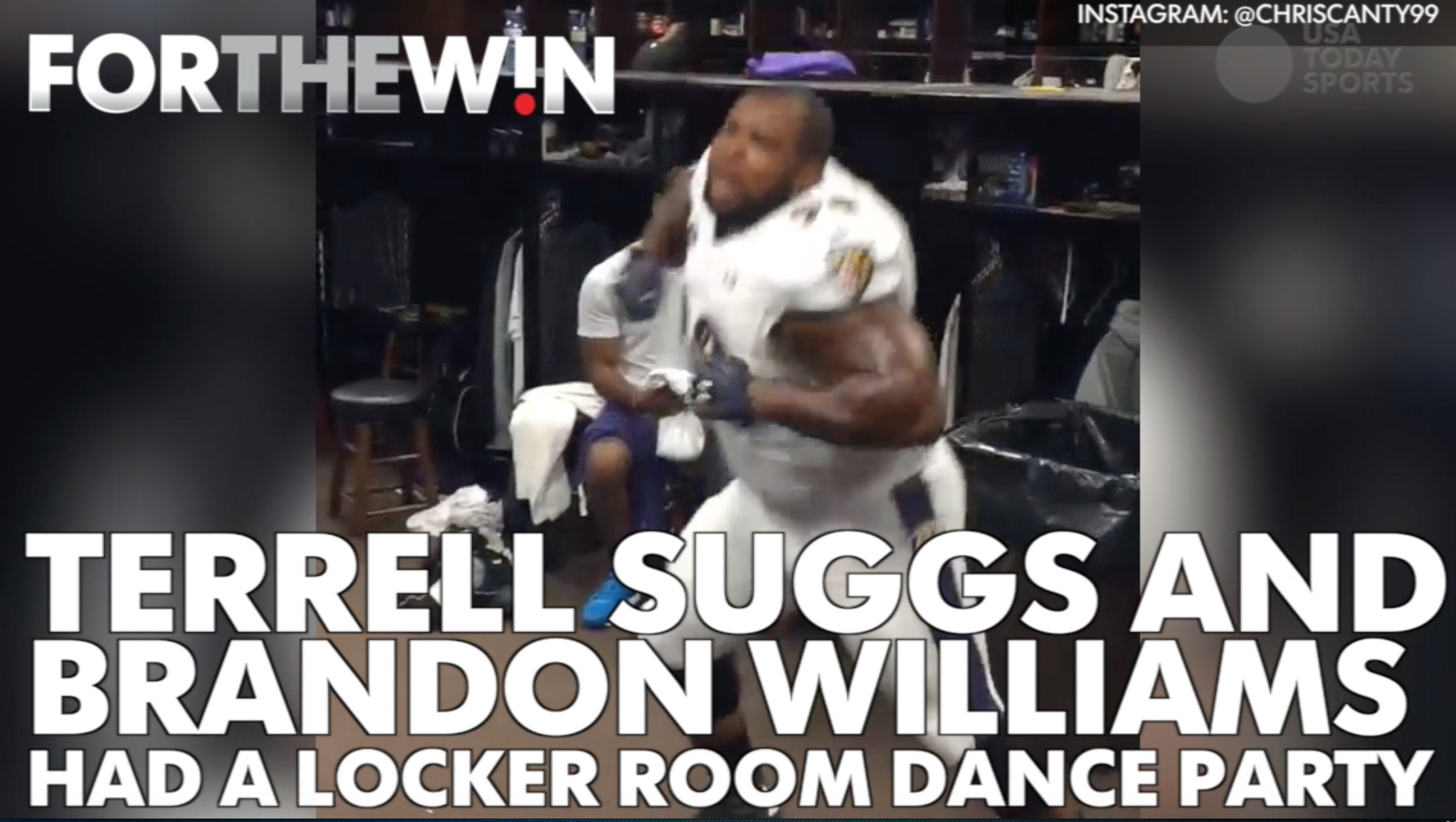 The Baltimore Ravens had a locker room dance party