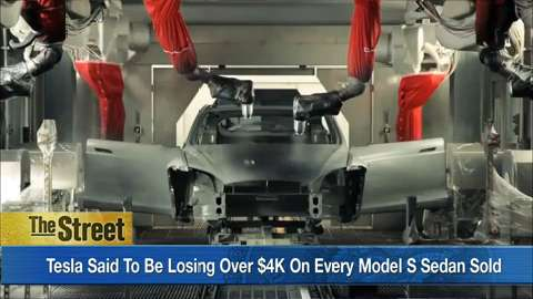 Tesla said to be losing over $4K on every Model S sedan sold