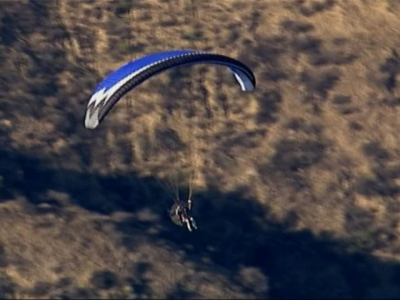 L.A. County Sheriff Chopper Chases Paraglider