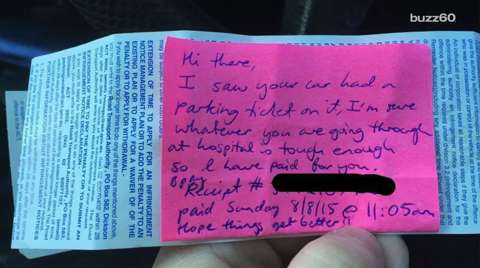 New mom gets hospital parking ticket, then huge surprise