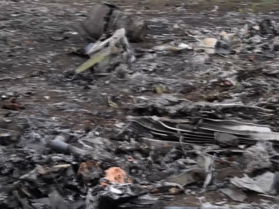 Possible bulk missile parts found at MH17 site