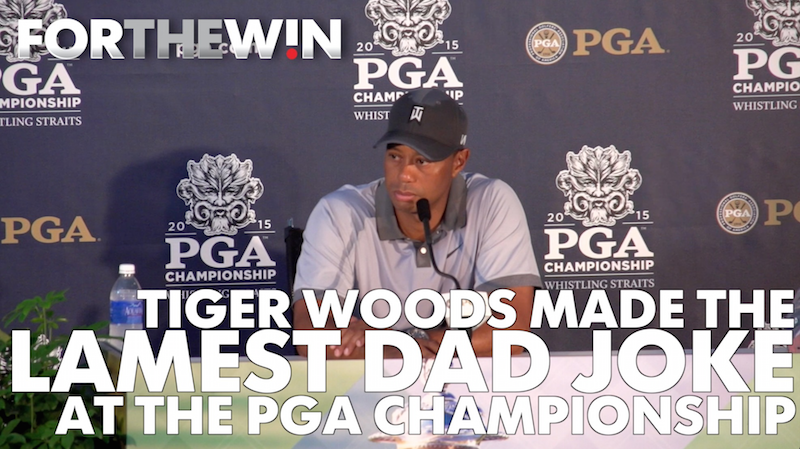 Tiger Woods' lame dad joke at PGA Championship presser