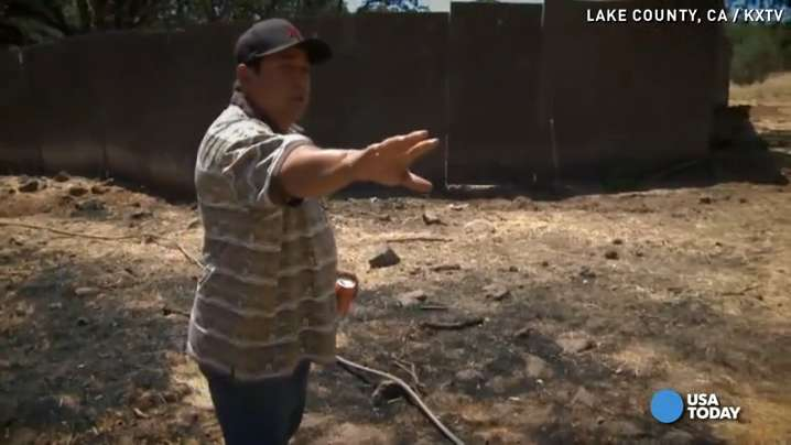 Dad saves property from wildfire, gets arrested