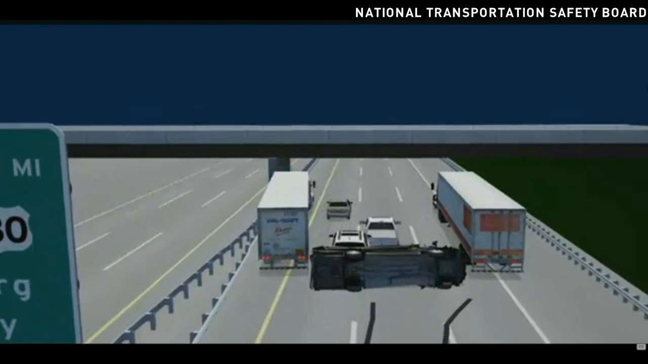 NTSB illustration shows Tracy Morgan crash
