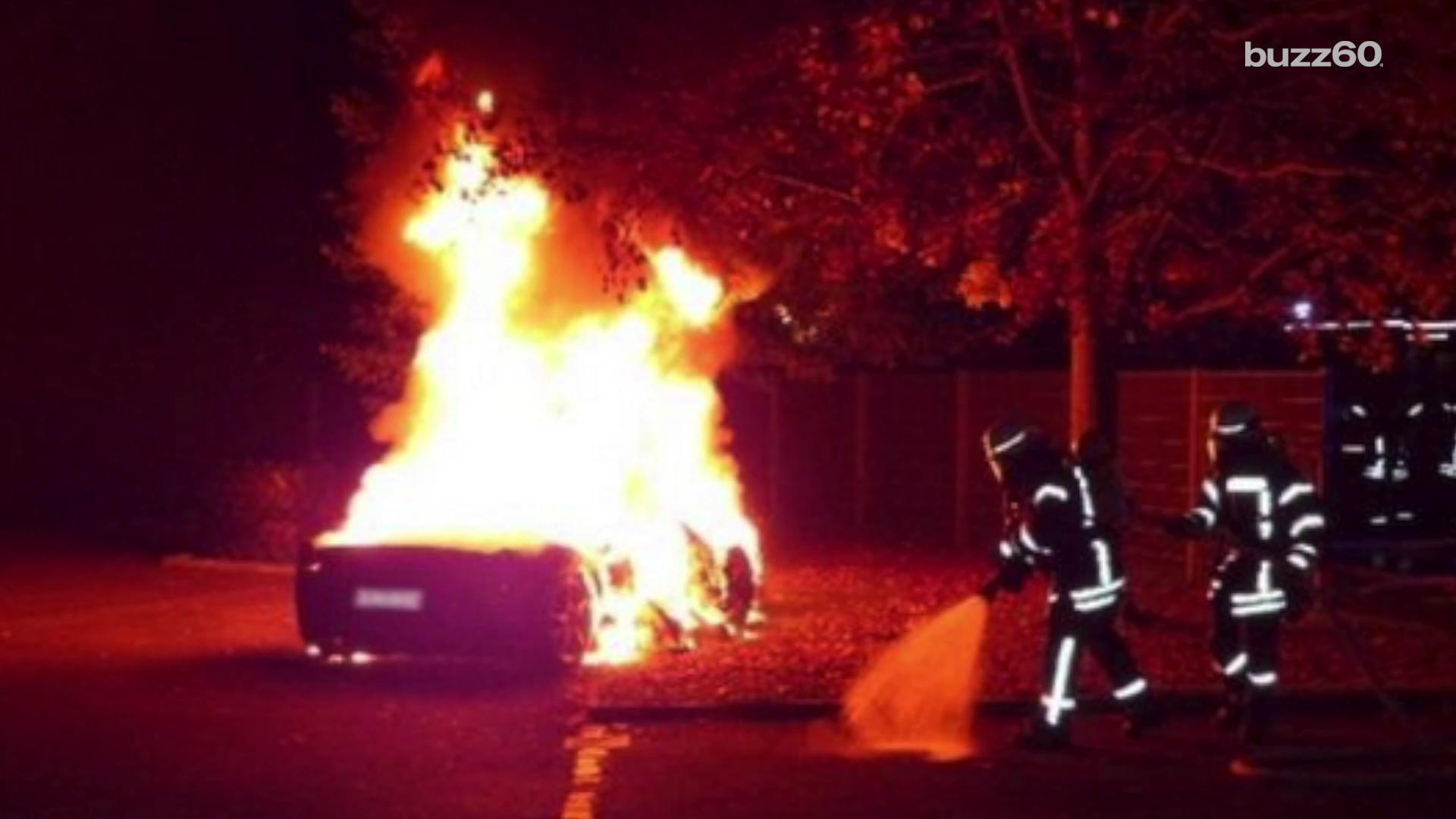 Spoiled kid burns his Ferrari so he can get a newer one
