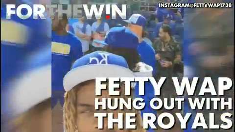 Fetty Wap hung out with the Kansas City Royals