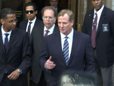 Raw: Brady, Goodell Leave Court After Hearing