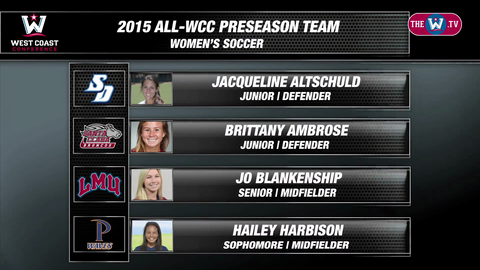 Video | 2015 WCC Women's Soccer Preseason Poll
