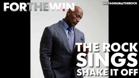 The Rock sings 'Shake it Off'