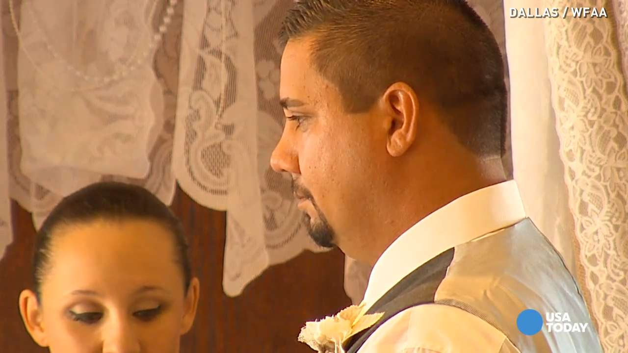 Veteran claims he was wounded in war, gets free wedding