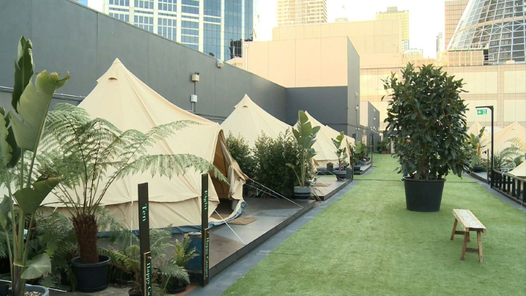 Tents in the city: Aussie-style 'glamping'