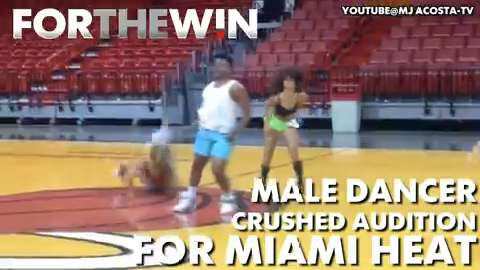 Male dancer crushes dance audition for Miami Heat