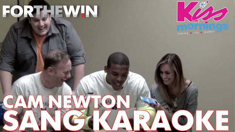 Cam Newton sang karaoke with a local radio station