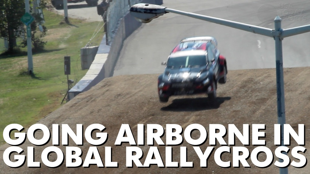 Get an in-car view as a rally car jumps and slides on a course in Washington, DC.