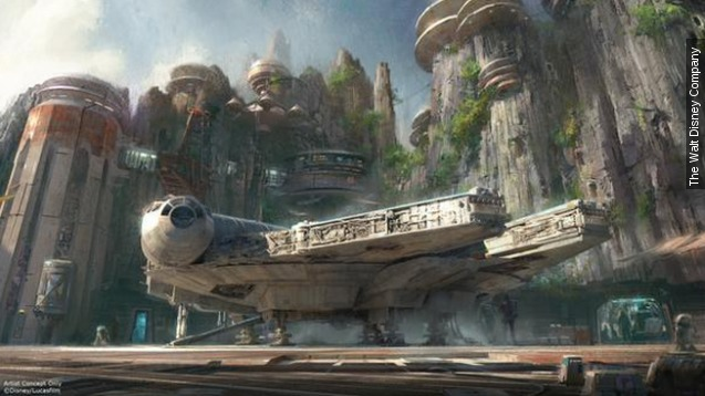 "The massive ""Star Wars""-themed expansions are headed to Disneyland in California and Walt Disney World in Florida.  Video provided by Newsy"