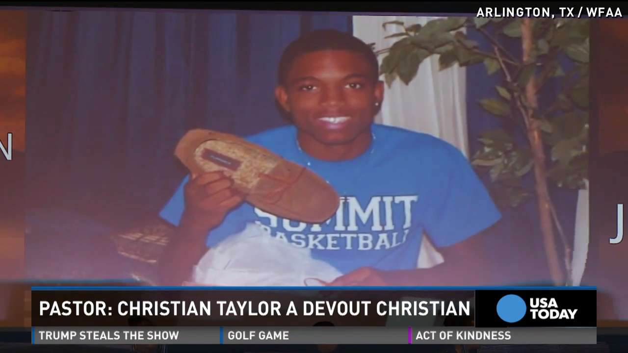 Christian Taylor remembered as man of faith