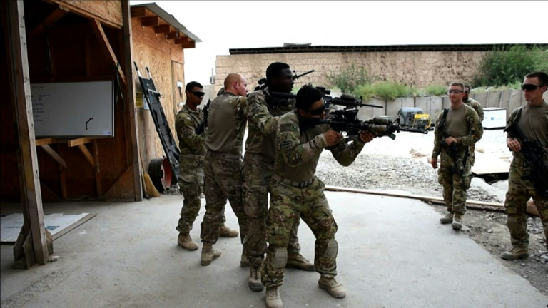 US trains Afghan forces after NATO drawdown