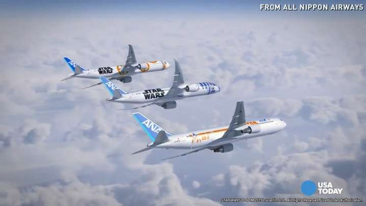 Japan's All Nippon Airways (ANA) is adding two more Star Wars-themed planes to their fleet. They already announced an R2-D2-themed plane, but said they're also adding one jet with a BB-8 theme, and another that combines the two.