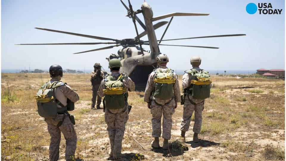 Of two marines at its camp lejeune n c training base usa today