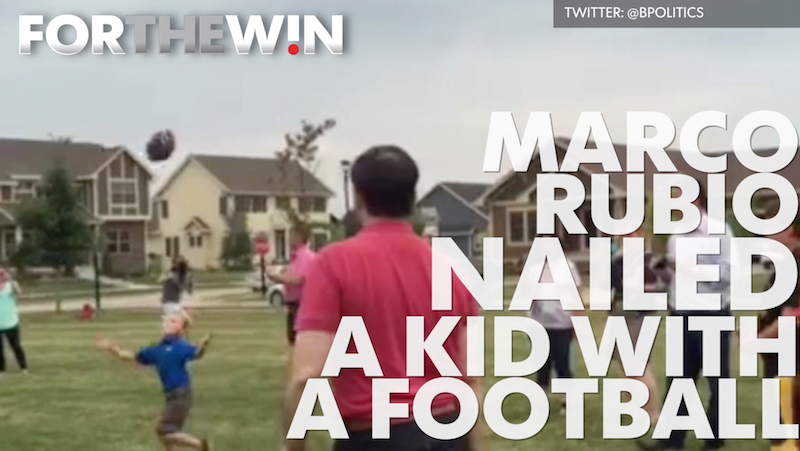 Marco Rubio nailed a kid with a football