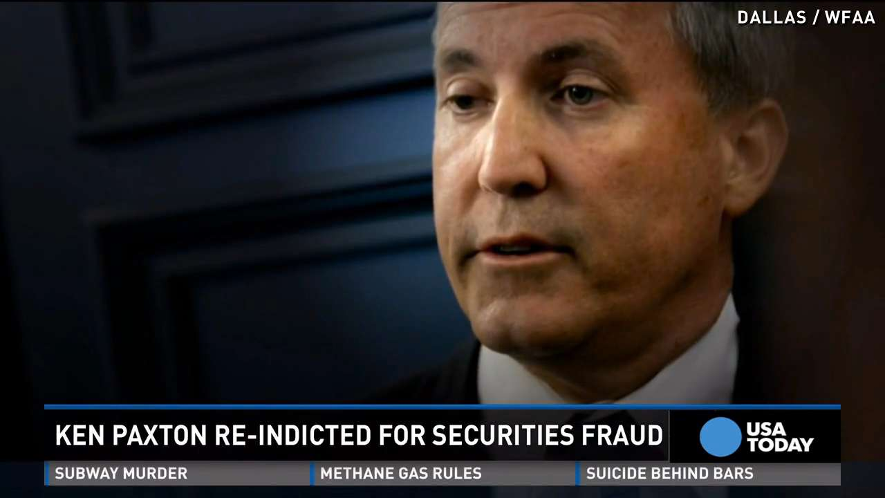 Texas Attorney General re-indicted on same charges