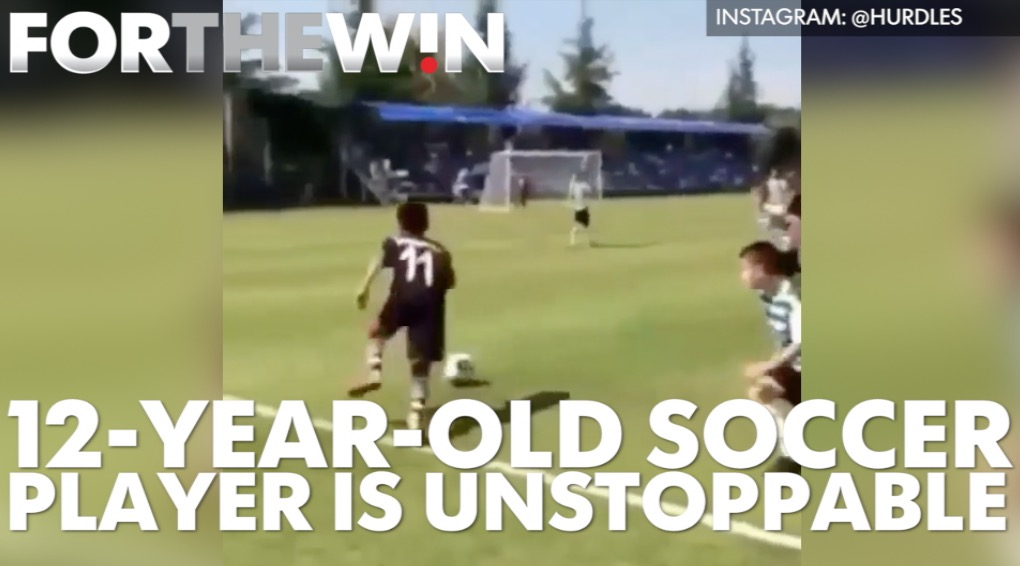 This 12-year-old soccer player is unstoppable