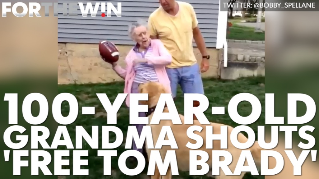 100-year-old grandma shouts 'Free Tom Brady'
