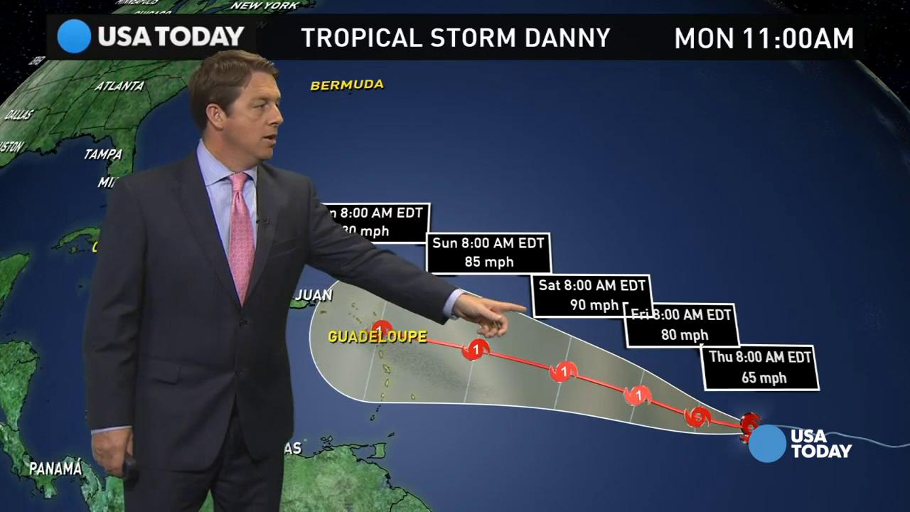 Tropical Storm Danny set to become first 2015 hurricane