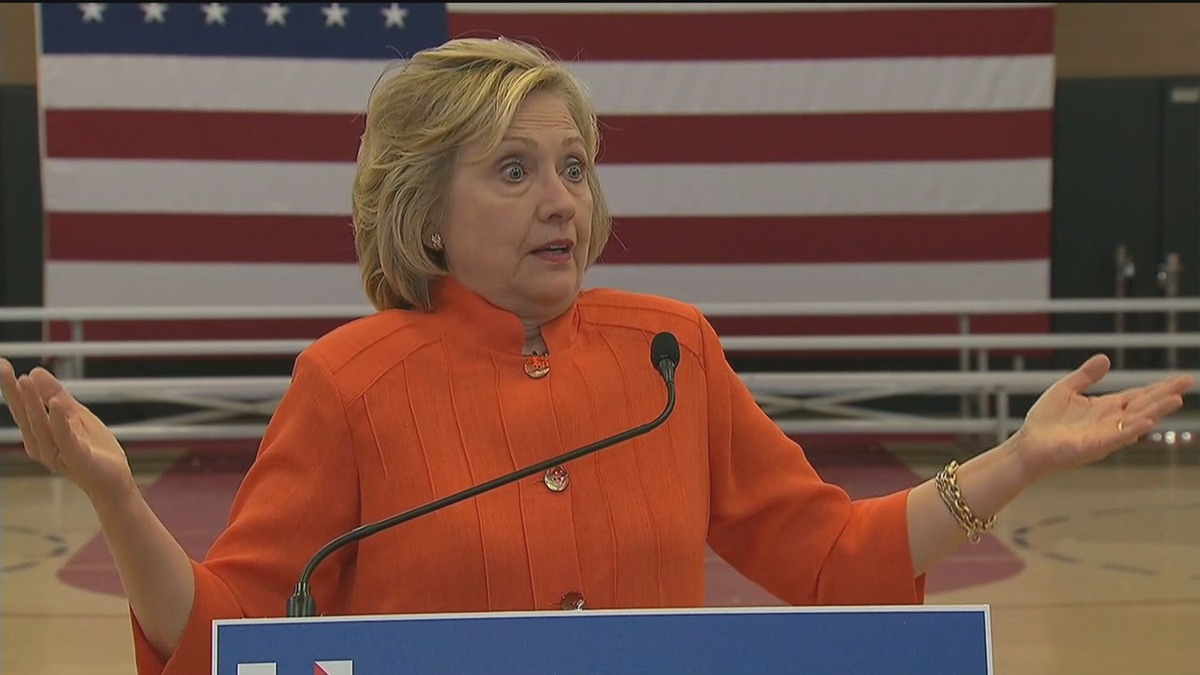 Clinton shrugs off question about wiping server clean