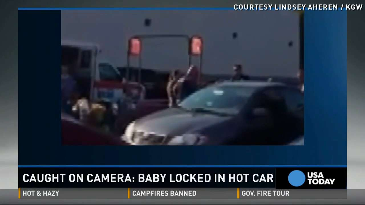 Watch: Baby rescued from hot car, mom arrested