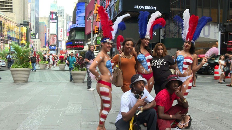 Topless times square women court New York ire